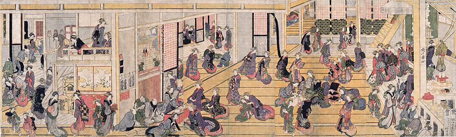 吉原楼中図(葛飾北斎 江戸後期)